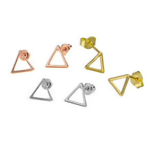 Open Triangle Studs - Nikki Smith Designs