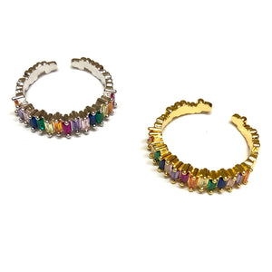 Adjustable Rainbow Rings - Nikki Smith Designs