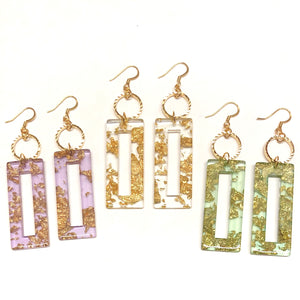 Amber Gold Earrings - Nikki Smith Designs