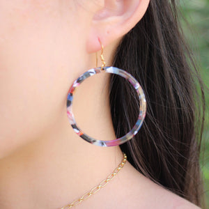 Blakely Tortoiseshell Hoops - Nikki Smith Designs