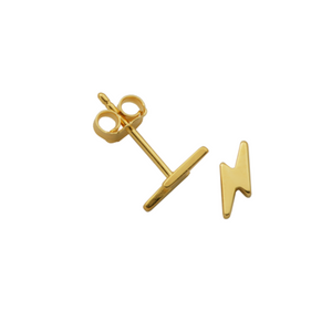 Golden Lightning Bolt Studs - Nikki Smith Designs