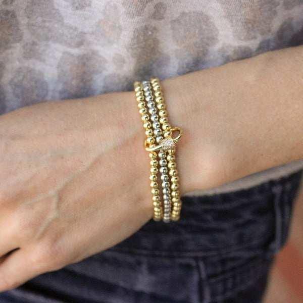 Chain Link Beaded Stack - Nikki Smith Designs