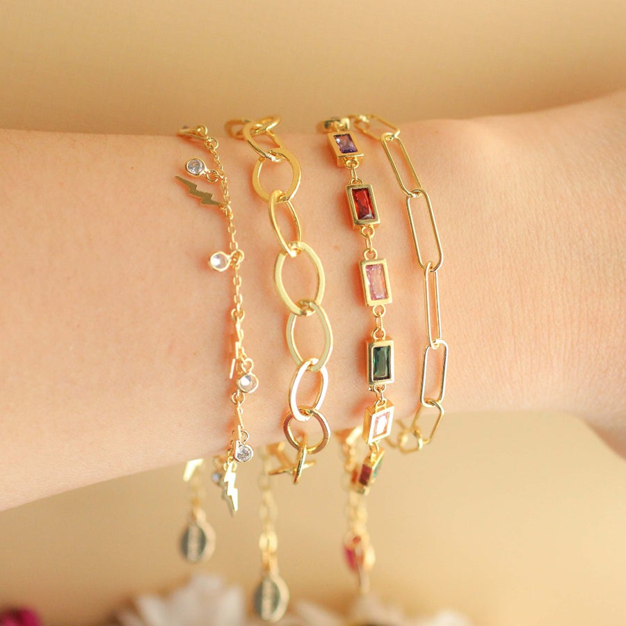 Gem Chain Bracelet - Nikki Smith Designs