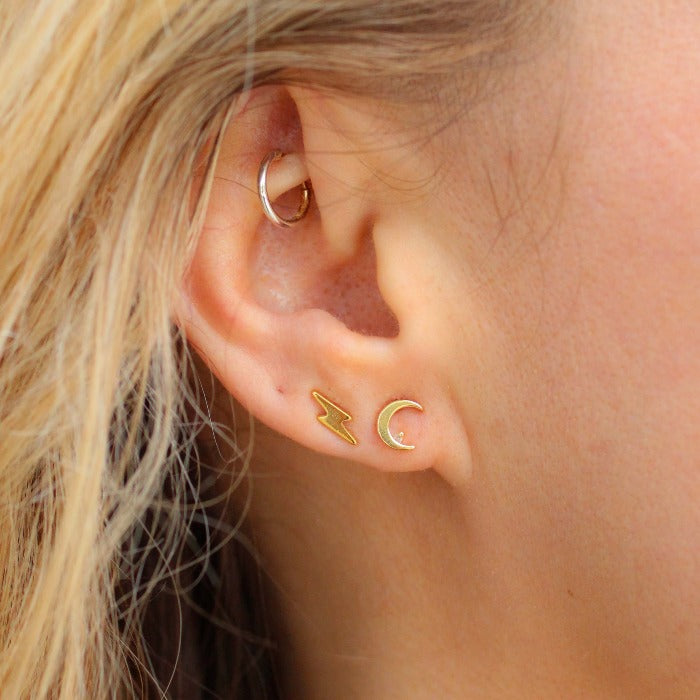 City Crescent Studs - Nikki Smith Designs
