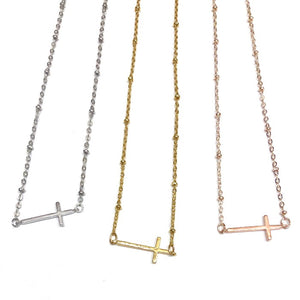 Cross, choker in gold, silver and rose gold- Nikki Smith Designs