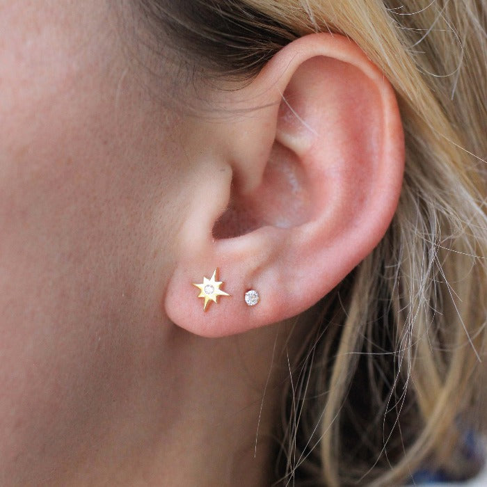 Mini Crystal Star Studs - Nikki Smith Designs