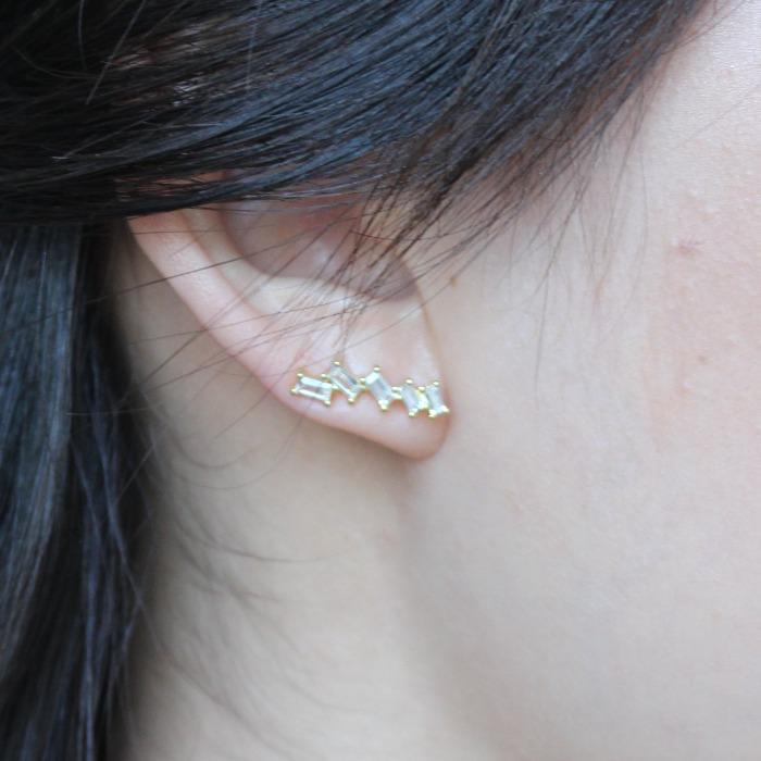 Diamond Cluster Crawler Earring - Nikki Smith Designs