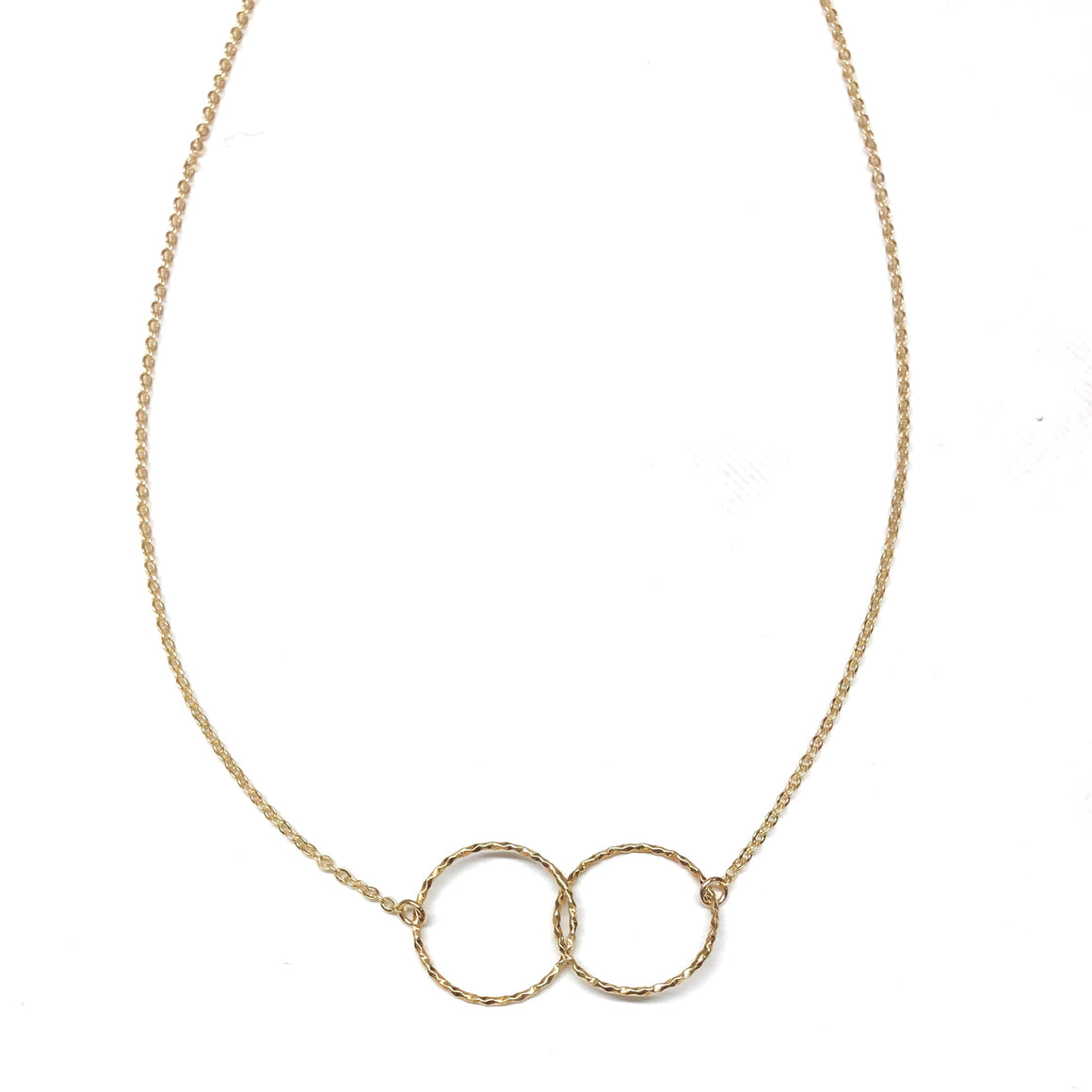 Golden Double Circle Necklace - Nikki Smith Designs