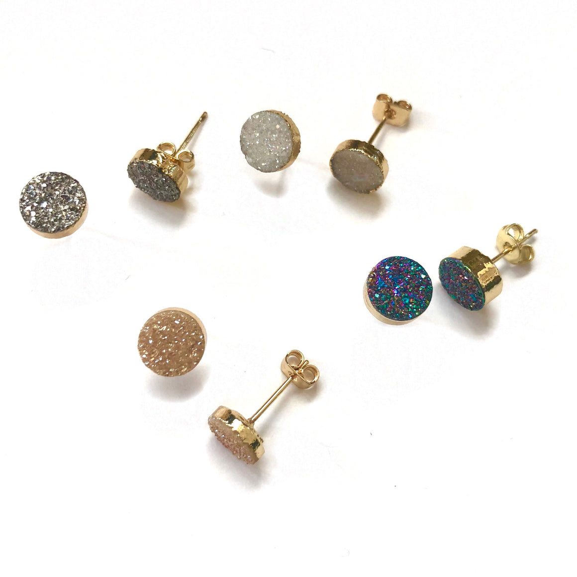 Circle Druzy Studs - Nikki Smith Designs