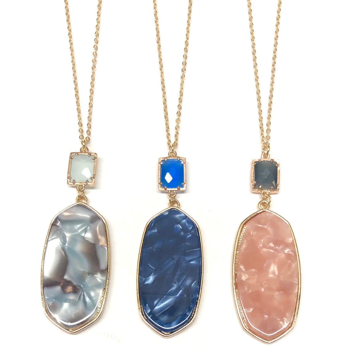 Emma Gem Drop Long Necklaces - Nikki Smith Designs