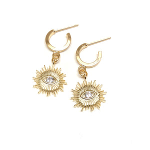 Golden Sun Hoops - Nikki Smith Designs