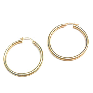 14k Gold Hoops - Nikki Smith Designs