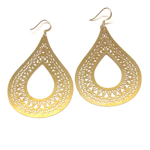 Golden Teardrop Earrings - Nikki Smith Designs