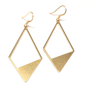 Golden Kite Metal Earrings - Nikki Smith Designs