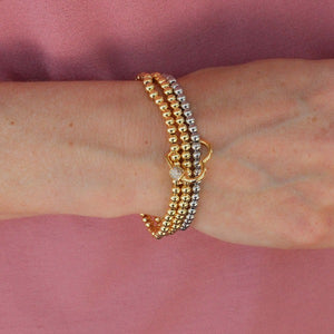 Heart Beaded Bracelet Stack - Nikki Smith Designs