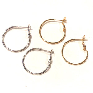Henley Gold/Silver Hoops - Nikki Smith Designs