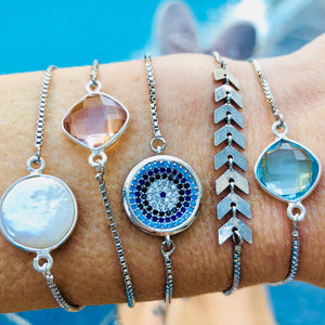 Favorite Silver Slider Bracelets - Nikki Smith Designs