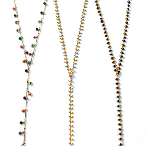 Mini Beaded Charm Lariat - Nikki Smith Designs