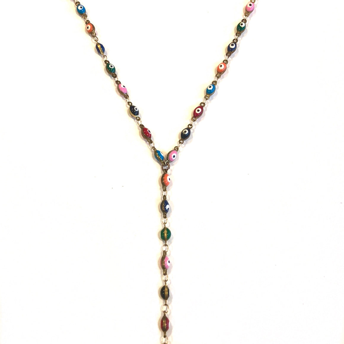Evil Eye Multi Color Lariat - Nikki Smith Designs