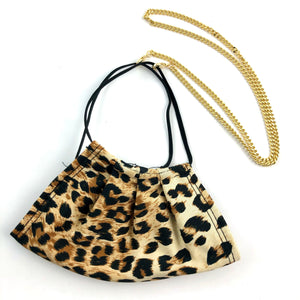 Face Mask with Mask Chain- Leopard