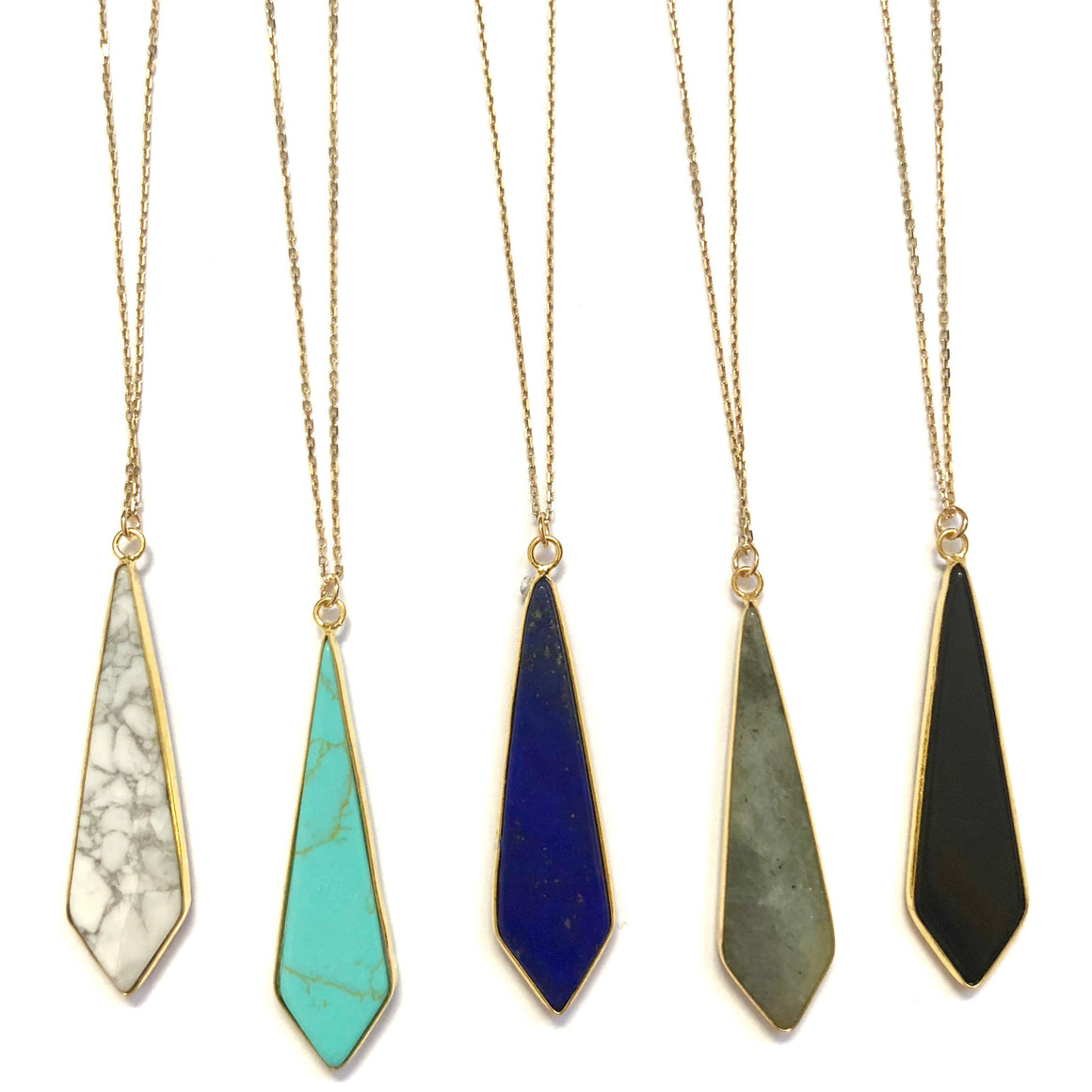 Geo Pendant Necklaces - Nikki Smith Designs