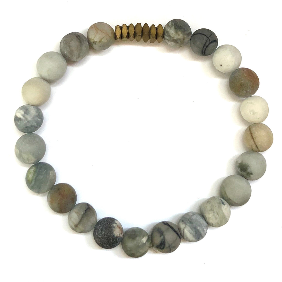 Chamonix Men's Beaded Stone Bracelet - Nikki Smith Designs