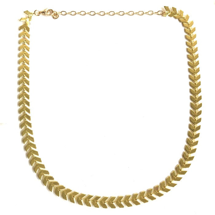 Golden Arrow V Link Choker - Nikki Smith Designs