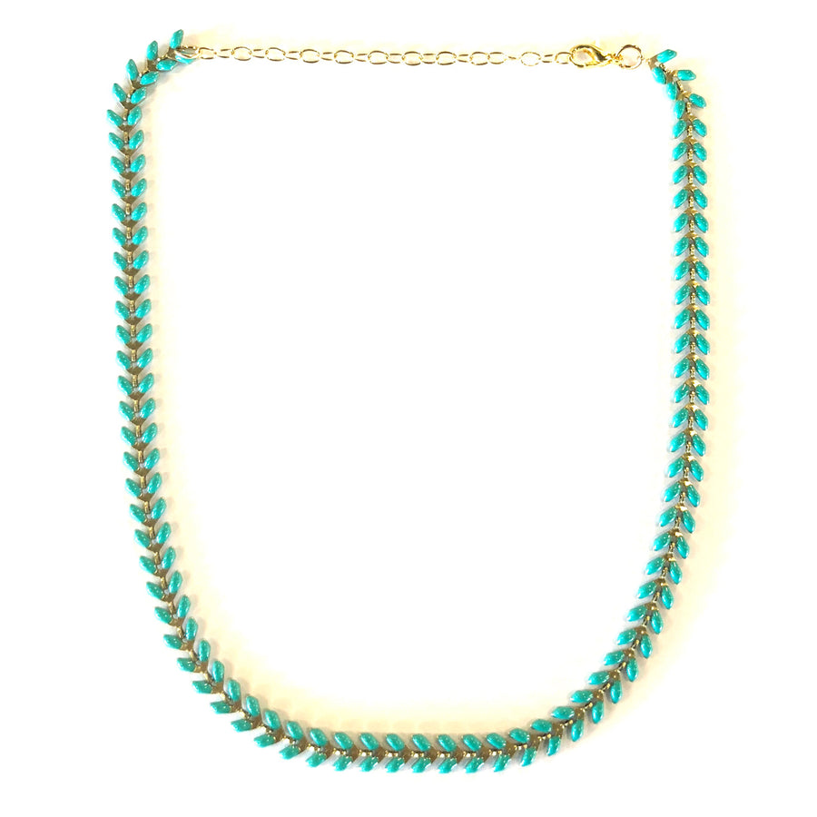 Matte V Link Choker Mint - Nikki Smith Designs