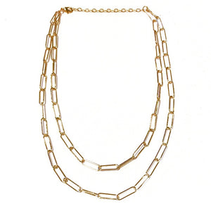 Sasha Double Chain Necklace - Nikki Smith Designs