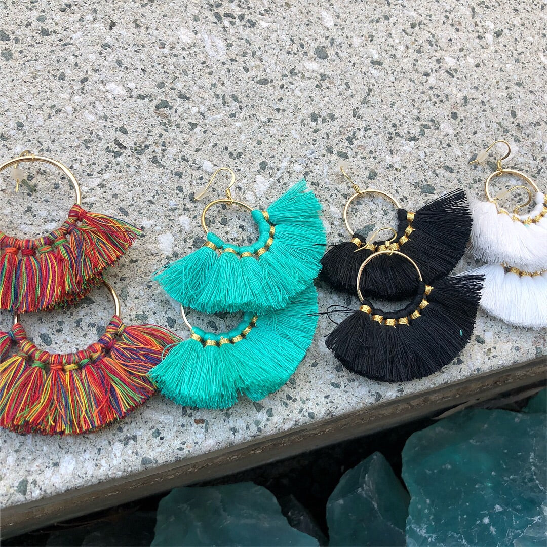 Fan Tassel Earrings - Nikki Smith Designs