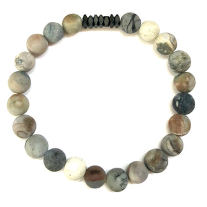 Epicure Men's Beaded Stone Bracelet - Nikki Smith Designs