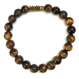 Crew Men's Beaded Stone Bracelet - Nikki Smith Designs