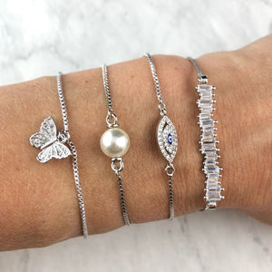 Brooks Silver Adjustable Bracelets