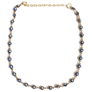 Evil Eye Navy Choker Necklace - Nikki Smith Designs