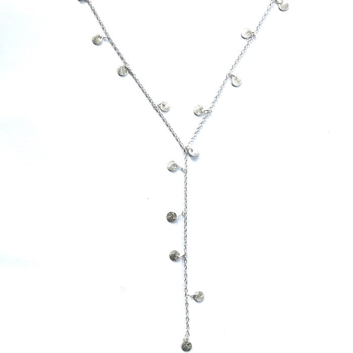 Charming Disk Lariat Silver - Nikki Smith Designs