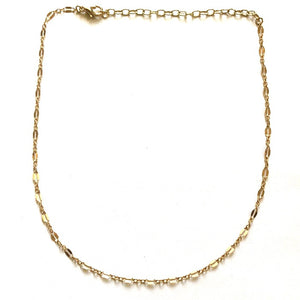 Shimmering Golden Plain Chain Choker