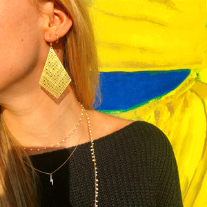Golden Treillis Earrings - Nikki Smith Designs