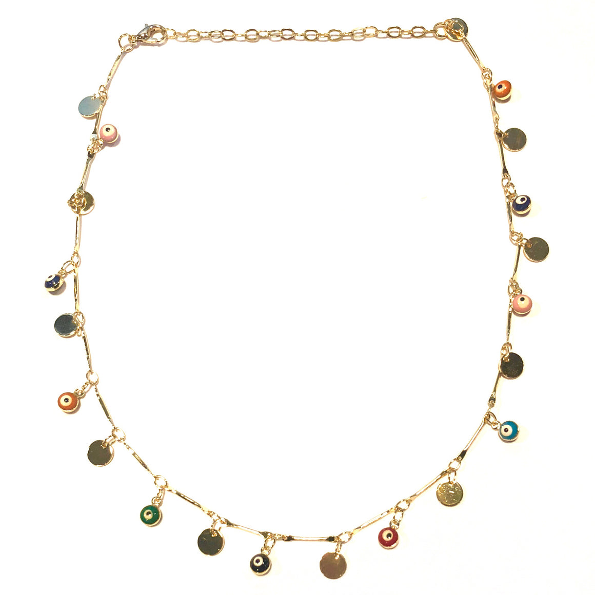 Evil Eye Disc Choker Necklace - Nikki Smith Designs