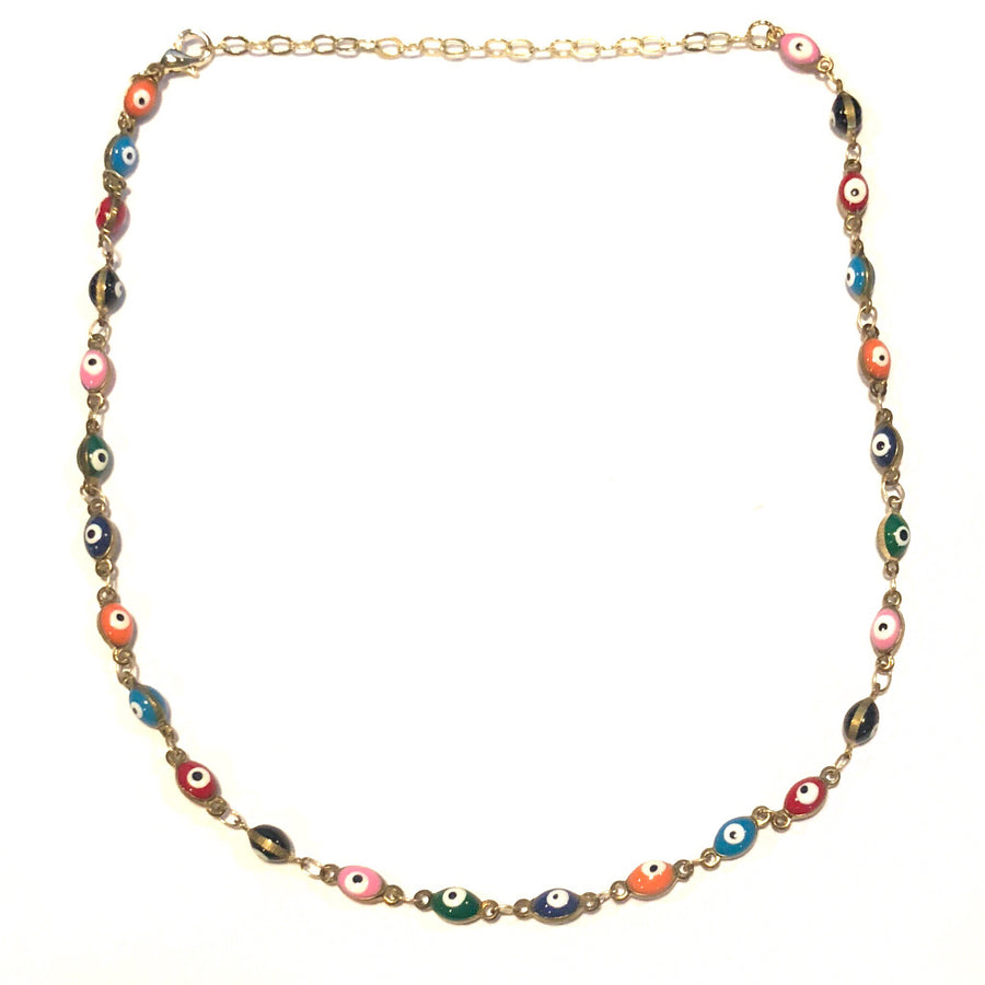 Evil Eye Multi Choker Necklace - Nikki Smith Designs