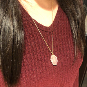 Midlength Rose Quartz Necklace