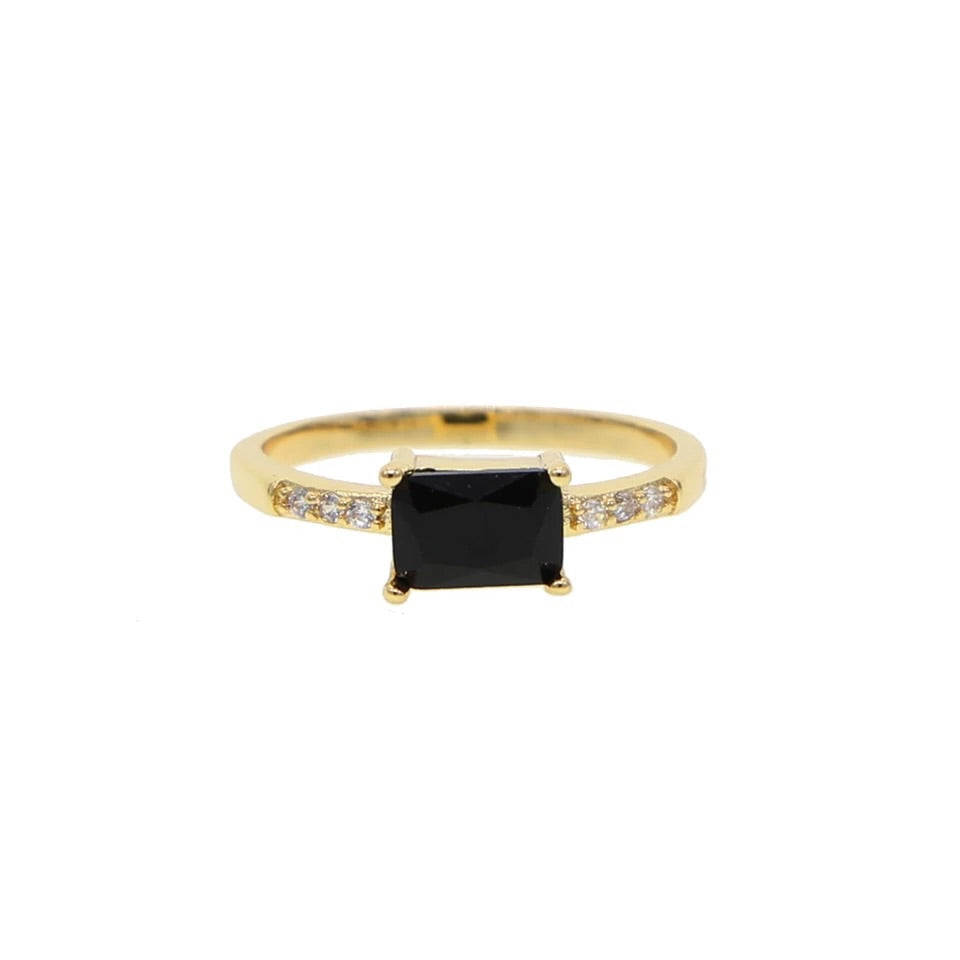 Diamond Black Gem Ring - Nikki Smith Designs
