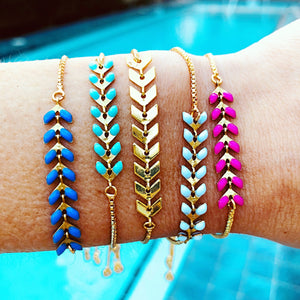 matte arrow slider bracelets