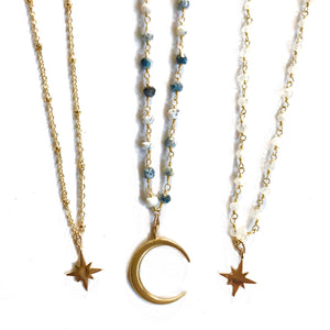 Moon Star Charm Chokers