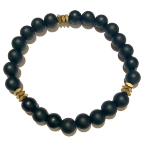 Ajax Men's Beaded Stone Bracelet