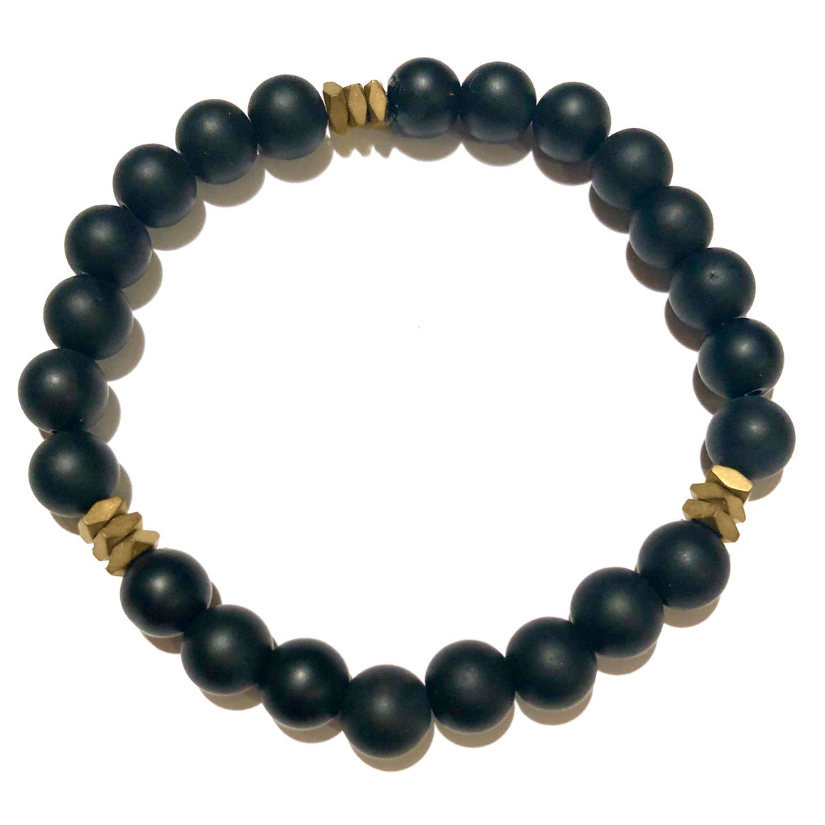Ajax Men's Beaded Stone Bracelet - Nikki Smith Designs