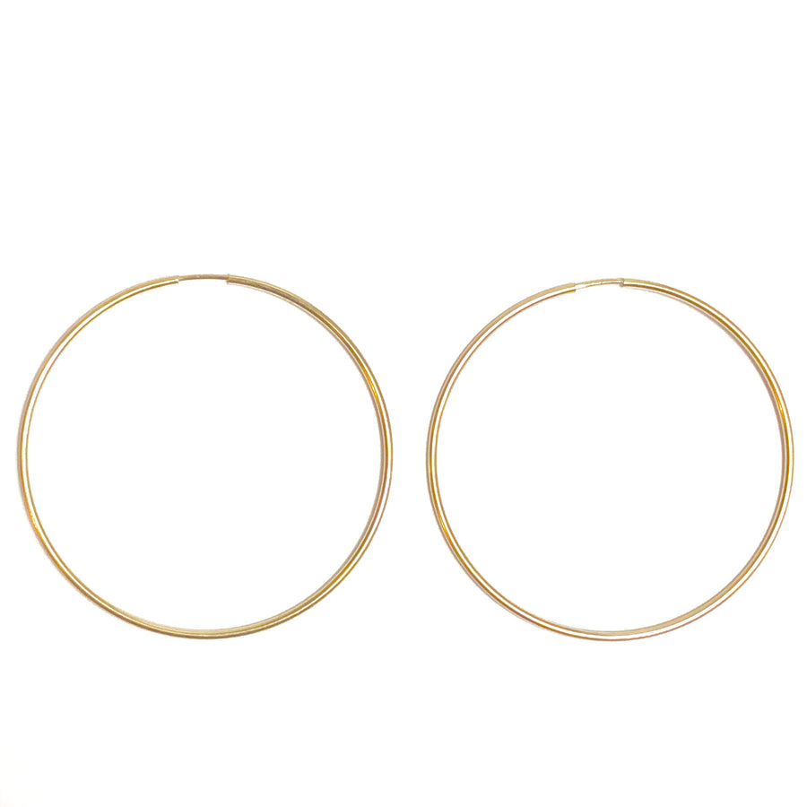 Gold Filled Hoops Large - Nikki Smith Designs