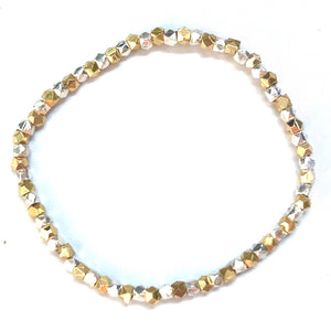 Golden Silver Dream Bracelet - Nikki Smith Designs