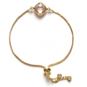 Blush Quartz Slider Bracelet - Nikki Smith Designs