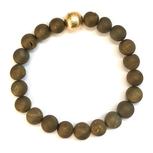 Classic Golden Stone Bracelet - Nikki Smith Designs