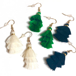Mini Tassel Earrings - Nikki Smith Designs